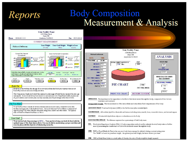 an analysis of body composition The device bia-acc is designed to simplify the evaluation, the analysis and monitoring of body composition in its quantitative, qualitative and functional aspects, using a multi-frequency bioelectrical impedance technology which can maximize the efficiency of the measurements even when applied to patients suffering from a chronic inflammatory disorder or stress related disorder.